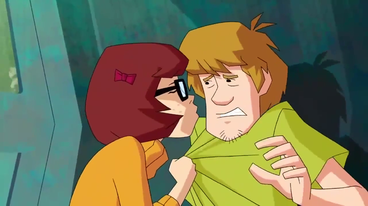 "Often, Velma would purse her lips and breathe into Shaggy's mouth,  ""Where's my lunch money?"""