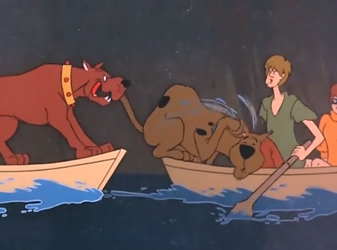 Even with all his kooky antics, Scooby-Doo failed to lighten the mood during Michael Vick's guest appearance.