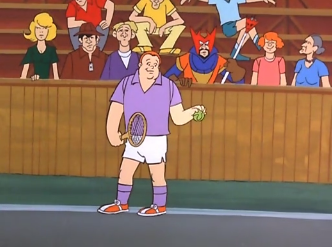 "Announcer:  ""Aiden Jonesworthy prepares to serve. Behind him, we see his warlock. I'm being told that the warlock worked 3 separate cauldrons to support Jonesworthy and pay for his tennis lennons. This truly must be a momentous day."""