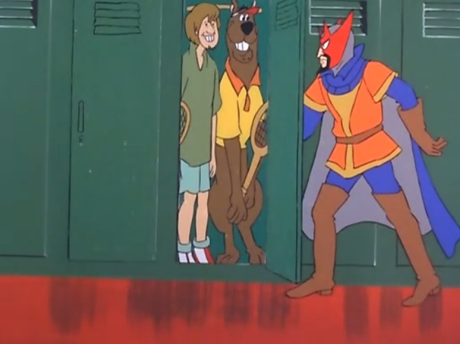 "Scooby and Shaggy are overheard engaging in ""locker room talk""."