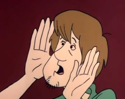The cheekless man laid his hands against Shaggy's face. Such a beautiful face.