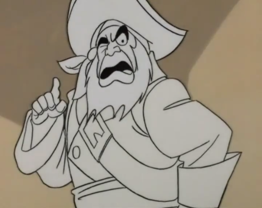 "Animator: ""How do you think the pirate ghost dressed?""  Colorist: ""For starters, all white."""