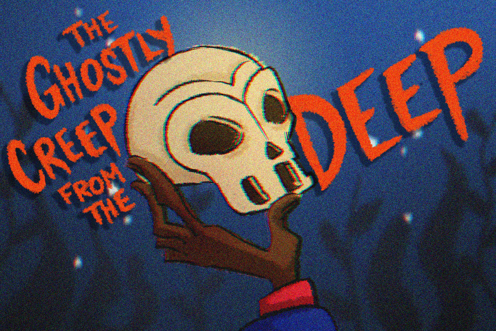 "Scooby Dudes  - Episode 13: ""The Ghostly Creep from the Deep"" - Title Card by Leslie Pulsifer"