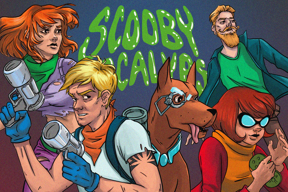 "Scooby Dudes  - Episode 15: "" Scooby Apocalypse  #1"" - Title Card by Leslie Pulsifer"