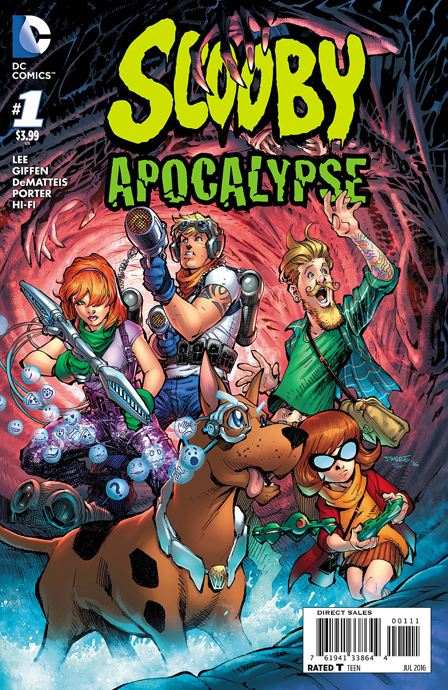 "Scooby Apocalypse  - Issue #1 - ""Waiting for the End of the World / When Shaggy Met Scooby!"" - Cover by Jim Lee & Alex Sinclair"