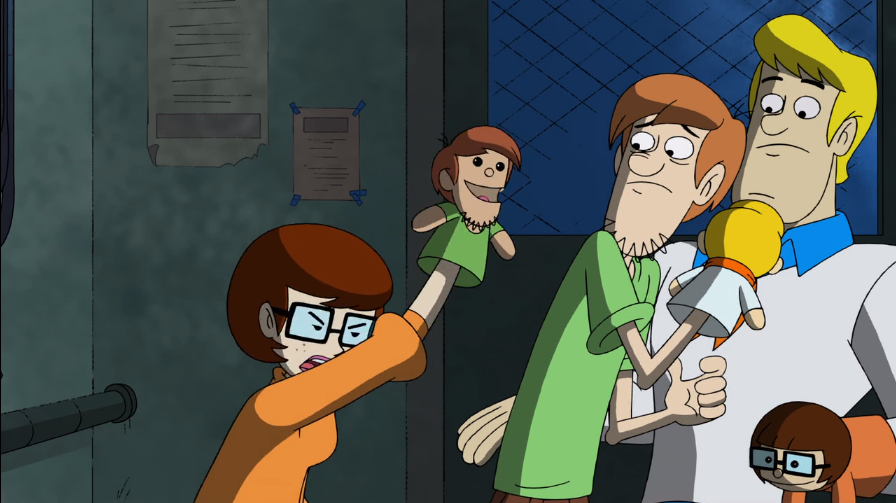 "Puppet Shaggy:  ""I have secret feelings for Velma but I'm too scared to own up and express them! """