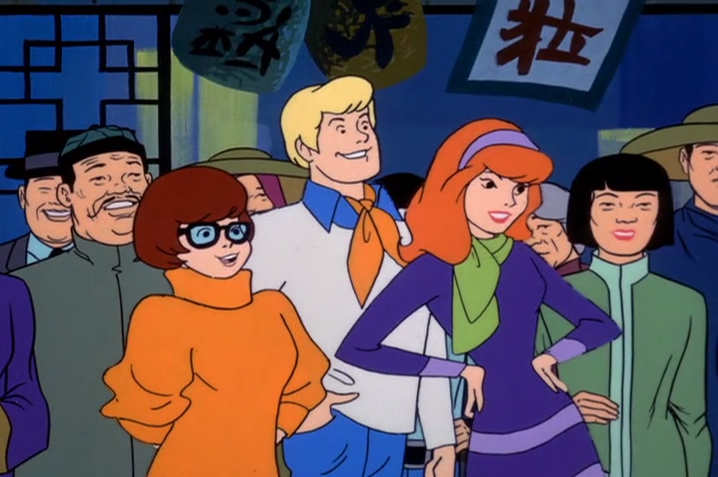 Velma explains that the episode we are about to watch is a product of its time and depicts some of the ethnic and racial prejudices that were commonplace in U.S. society. These depictions were wrong then and they are wrong today. While the following do not represent the Scooby Dudes view of today's society, these cartoons are being presented as they were originally created, because to do otherwise would be the same as claiming that these prejudices never existed..