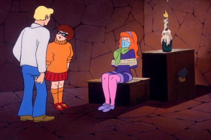 "Velma: ""She can liberate herself when she's ready, SIR."""