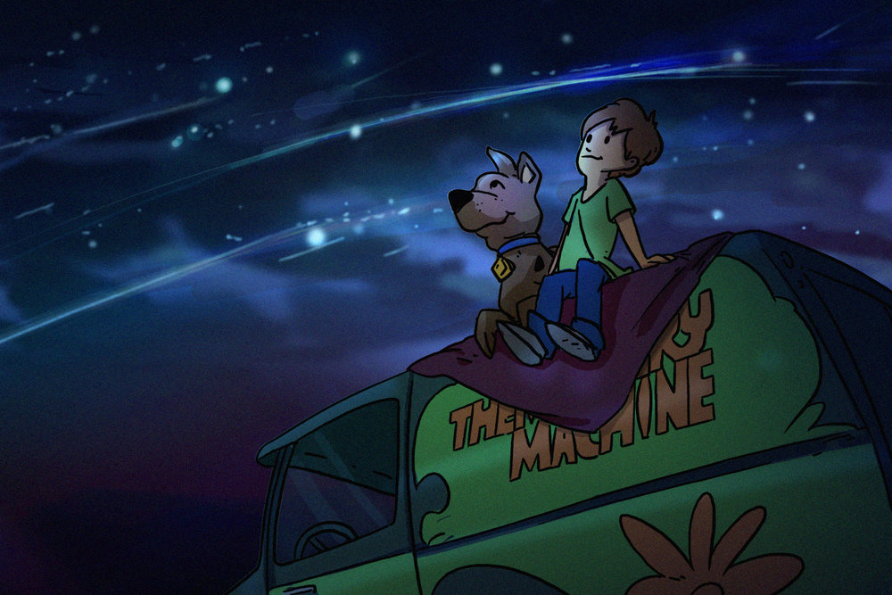 "Scooby Dudes  - Episode 20: ""A Bicycle Built for Boo"" - Title Card by Jason Lum"