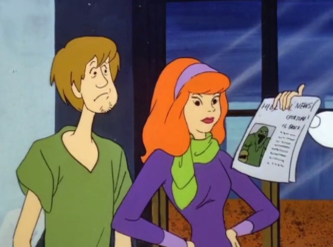 Daphne's cousin shares the news that she holds newspapers weirdly.