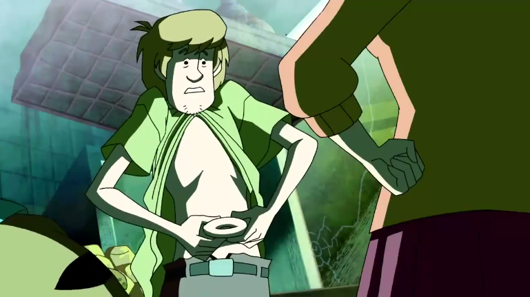 "Shaggy's stomach: ""I think I've finally got the, like, GUTS to be the man you need, Velmster."""