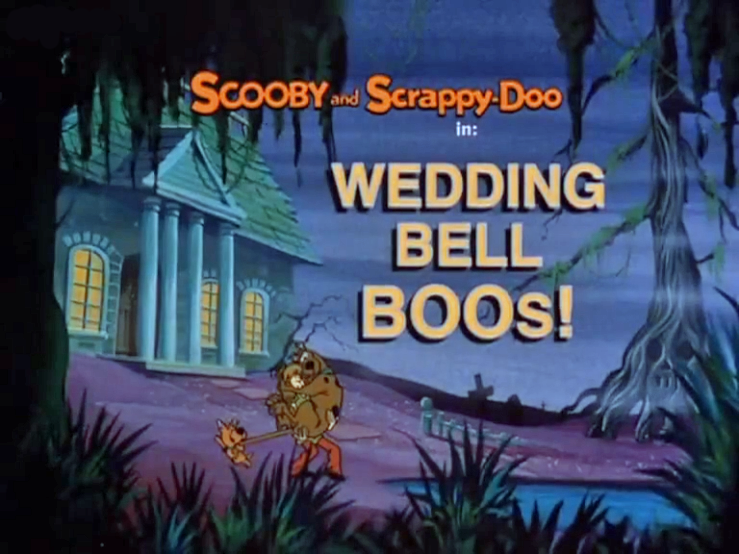 "The New Scooby and Scrappy-Doo Show  - Season 1, Episode 13: ""Wedding Bell Boos!"" - Title Card by Unknown"