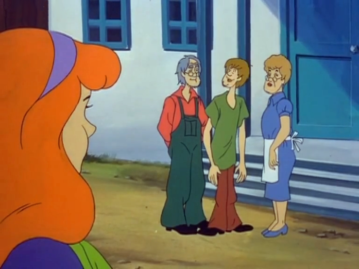 Daphne observes the hereditary origin of Shaggy's chin.