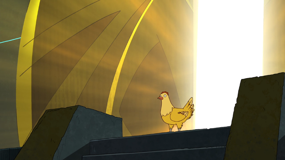 This is what it would look like if god were a chicken (which, incidentally, she is).