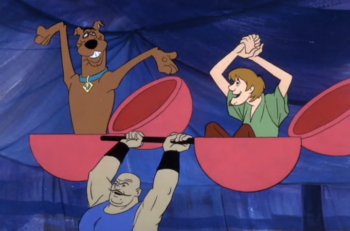 In early episodes of Scooby-Doo, the final gag is often just footage of the cast's after-party.