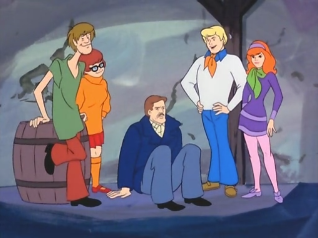 """""""Now Shaggy, in this scene you've just caught the villain and you're real jazzed about it . . . but in a very  laid-back  way."""""""