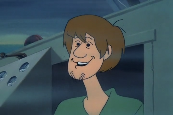 A less respectable podcast website would probably write some hacky caption about how Shaggy was smoking marijuana in the ship's cabin, and that's why this screenshot is so foggy.  Now that I've said that I'm going tackle the next one, which I've decided will be a thinly veiled weiner joke.