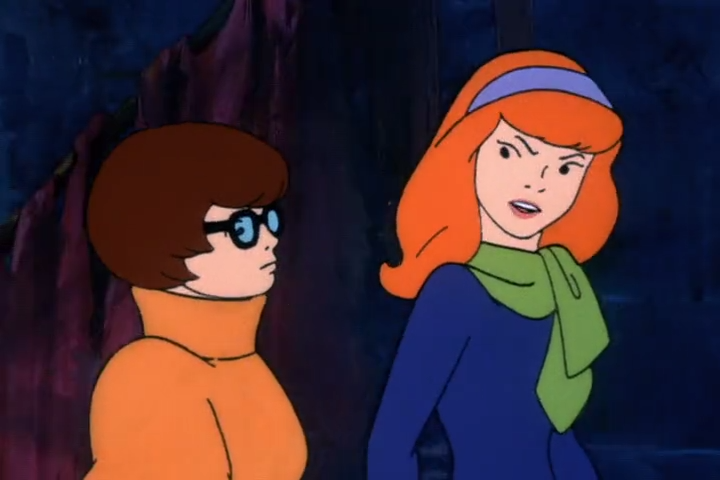 Tired of her colleague's verbal abuse, Velma imagines something terrible befalling Daphne.