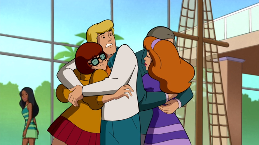"Fred squeezed Velma closer. "" I like girls,  not  nets. I like  girls , not nets!"""