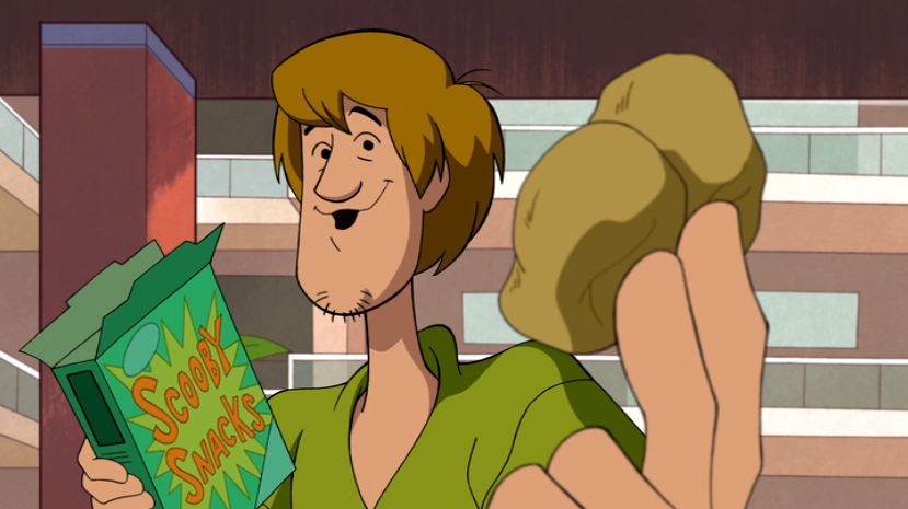 Shaggy demonstrates foreshortening.