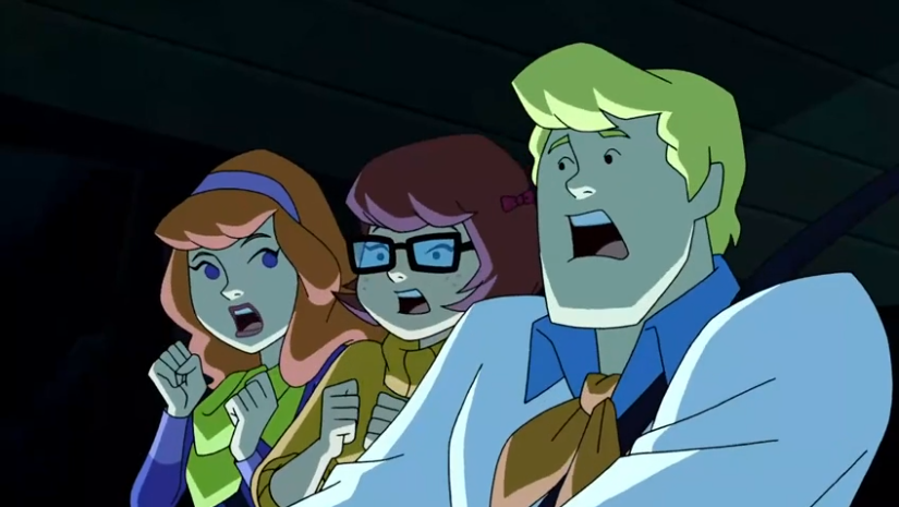 Personally, I don't understand why the rest of the gang keeps trying to beat Shaggy at who can open their mouth widest.