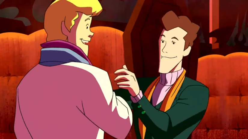 Fun Scooby Fact: At the end of this episode we see Freddie hang his own ascot wrapped in Rung Ladderton's in a clear allusion to  Brokeback Mountain .
