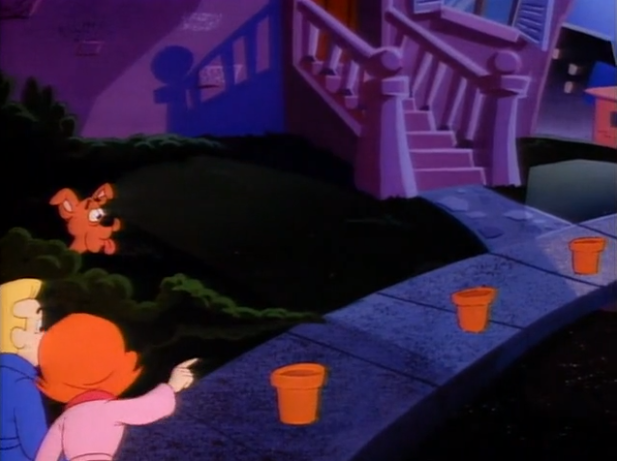 Like many other shows of its era,  A Pup Named Scooby-Doo  warns of the dangers of pot on the streets.