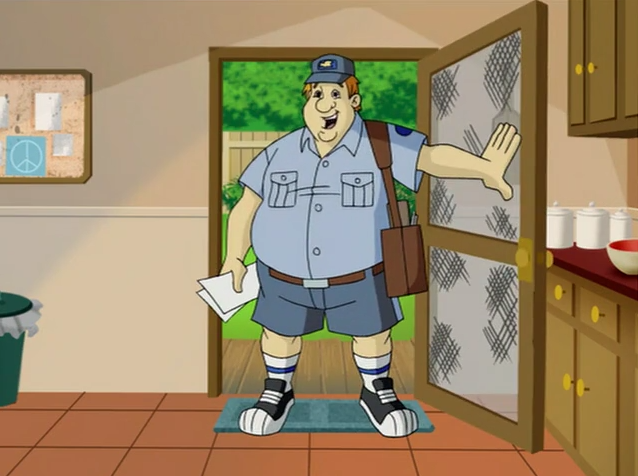 George the Mailman opens the door expecting a Kramer-esque response, and instead gets a Newman one.