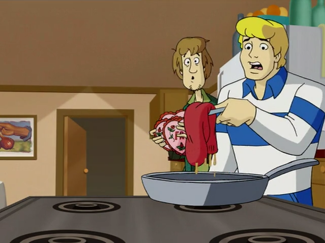 Scooby swapping out Fred's bacon for a sock is even funnier given that the previous day Scooby had replaced Fred's laundry detergent with bacon grease.