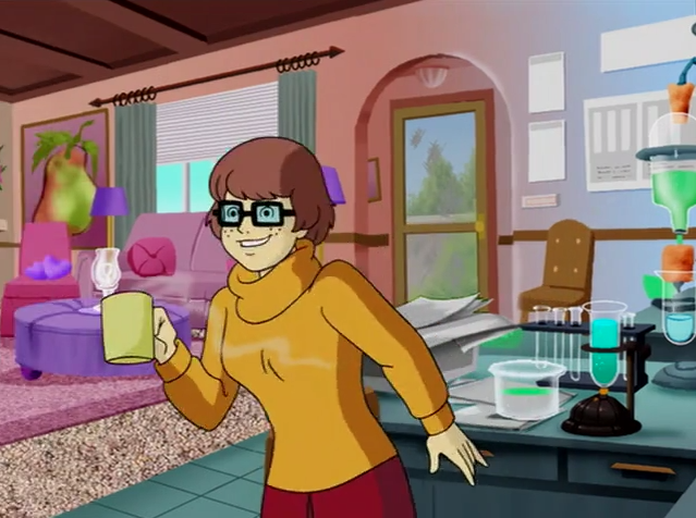 Nothing quite perked Velma up for her morning science experiments like a hot cup of chemicals.