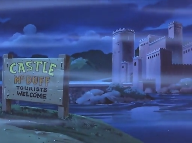The sign maker was fired for inadequately conveying that only those named McDuff were welcome at Mr. Tourists' castle.