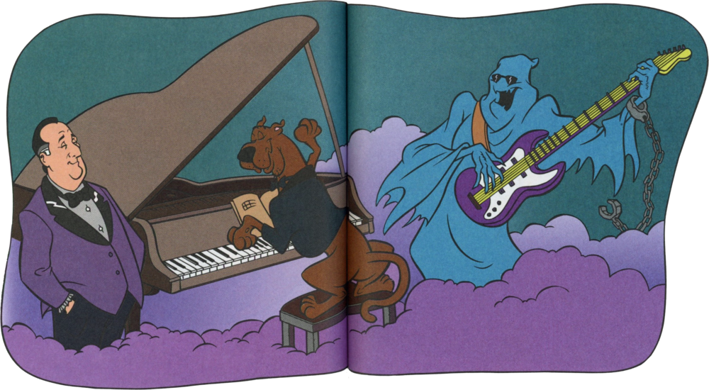 I would've liked this  part  of the book much better if it lined up perfectly with Scooby's bottom.