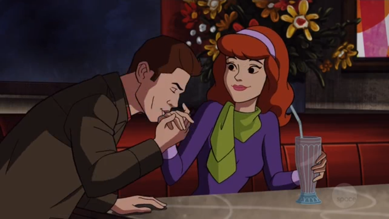 If you swap out Daphne for Sam and replace the hand-kiss with something very similar but also very different, this aligns neatly with a scene from my slash fiction.  Read and subscribe at www.samanddeankissingfeet.co.uk