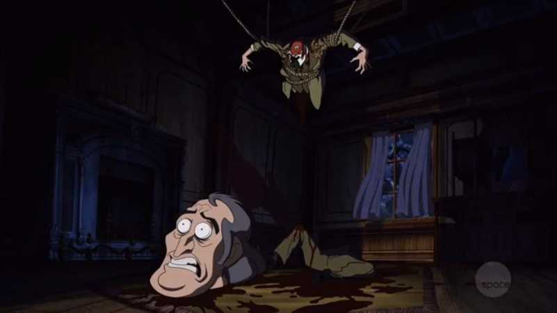 Fun Fact: in the original episode, Mr. Creeps' dismembered body does not actually appear on screen.
