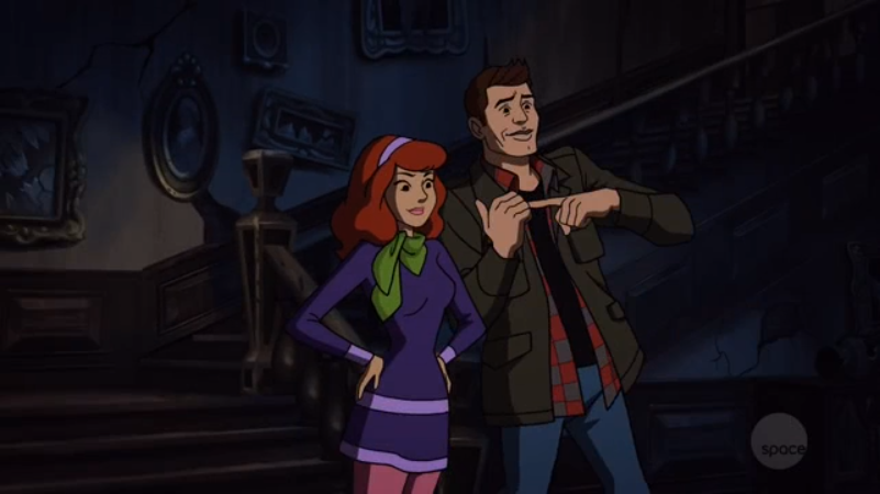 Alright, readers I'm going to be honest. Even with my extensive base of slash fiction-writing experience, even  I  don't know what depraved, deviant act Dean is gesticulating that he wants to do with Daphne.