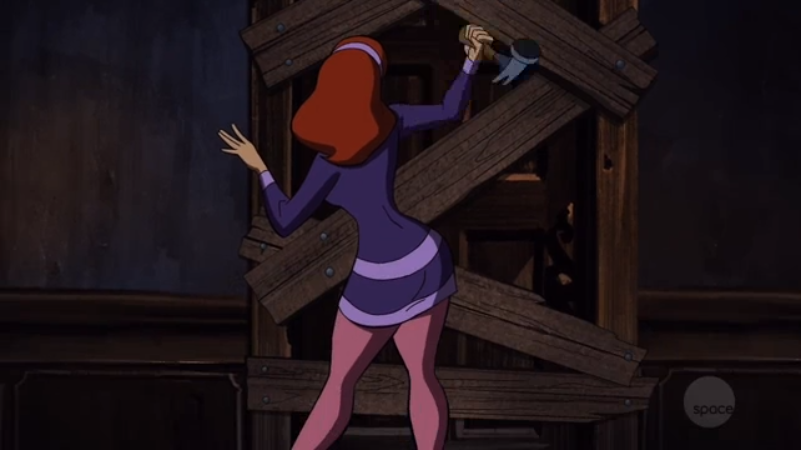 Perhaps the first ever moment of straight-up, unadulterated  Scooby fan service .
