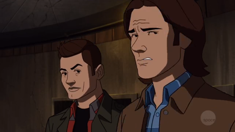 Sam was not thrilled to learn what Castiel had to teach about tapeworms.  Dean had seen it all before.