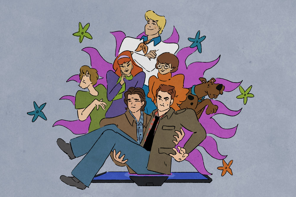 """Scooby Dudes  - Episode 42: """"Scoobynatural"""" - Title Card by Sam Wade"""