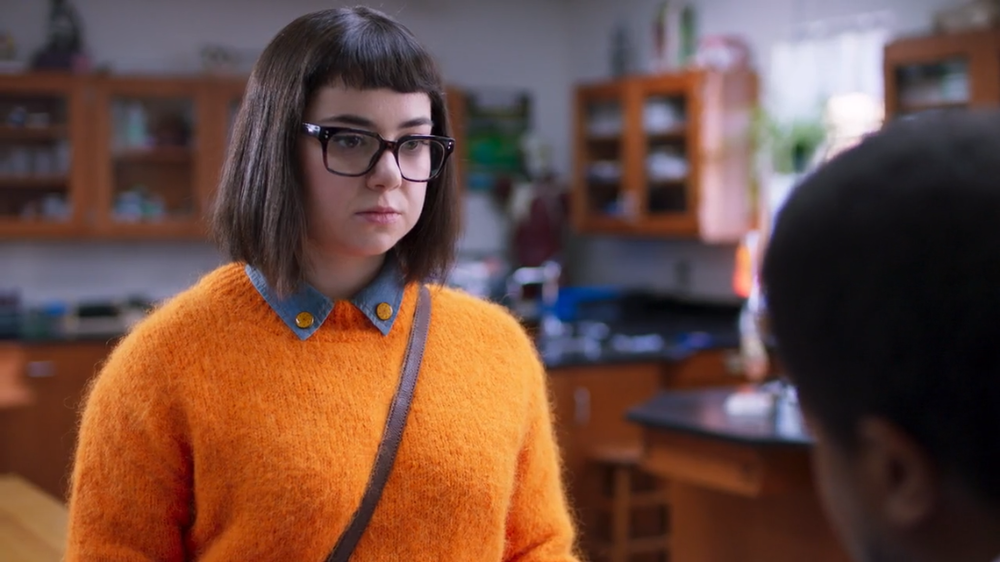 Velma is either unfashionable or more fashionable than the human mind can grasp.