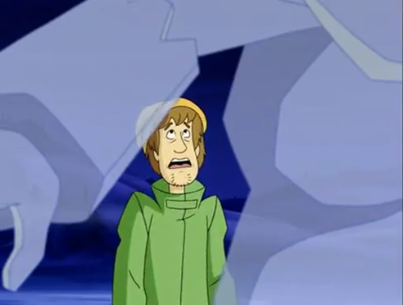 """IT'S LIKE ME WEARING NOTHING AT ALL,"" Growled the scariest monster Shaggy had seen yet."