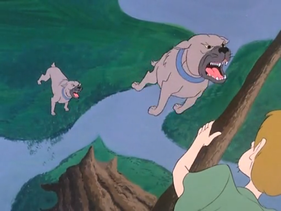 Fun fact: This is the only scene in all of Scooby-Doo which was directed by Alfred Hitchcock.