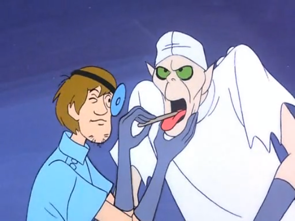 Remember - if your doctor tries this on you, you may be a Scooby-Doo villain.