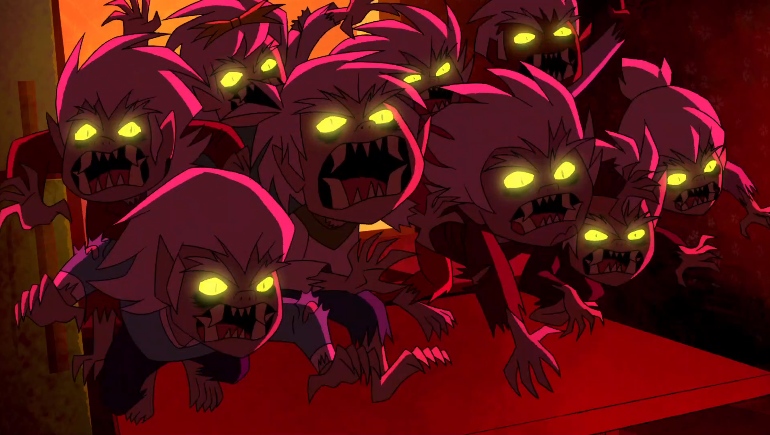 The rabid, crazed monsters of this episode are so scary they're almost as terrifying as actual children.