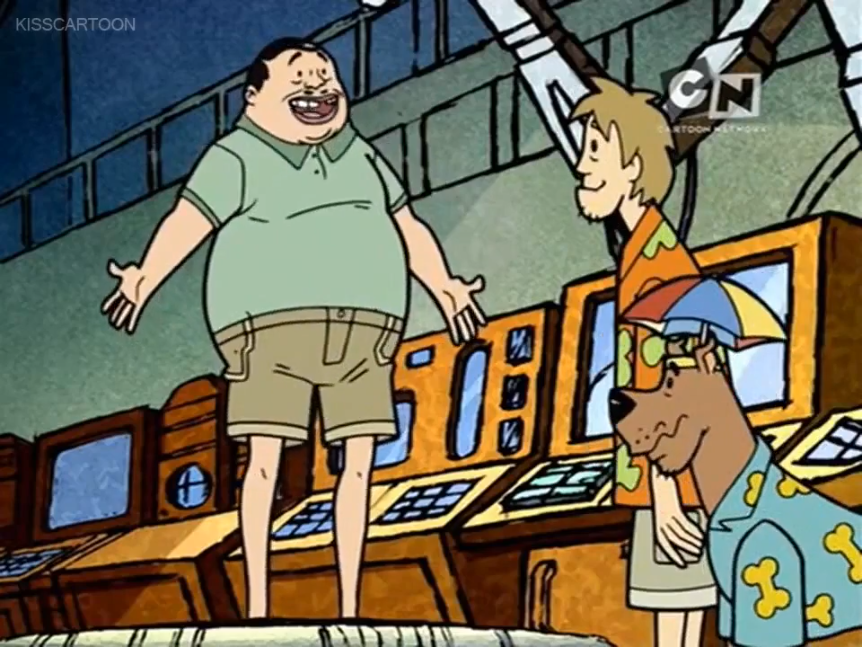 Mr. H thanks Scooby and Shaggy for making him taller in the last moments before his newly-brittle bones shatter like fluorescent lightbulbs beneath him.