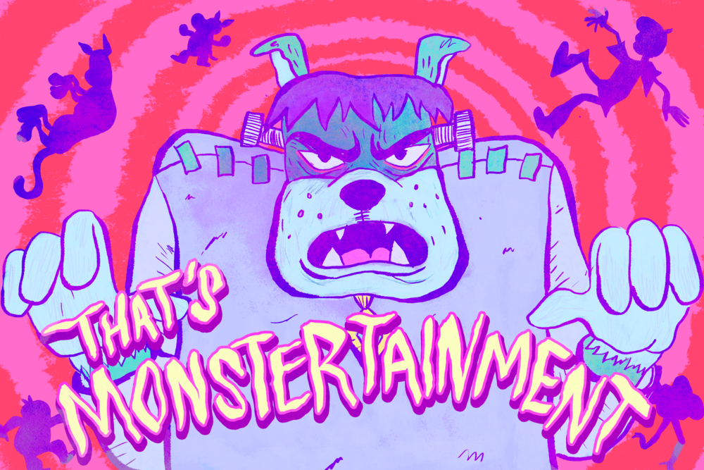 """Scooby Dudes  - Episode 58: """"That's Monstertainment"""" - Title Card by Ulibeanz"""