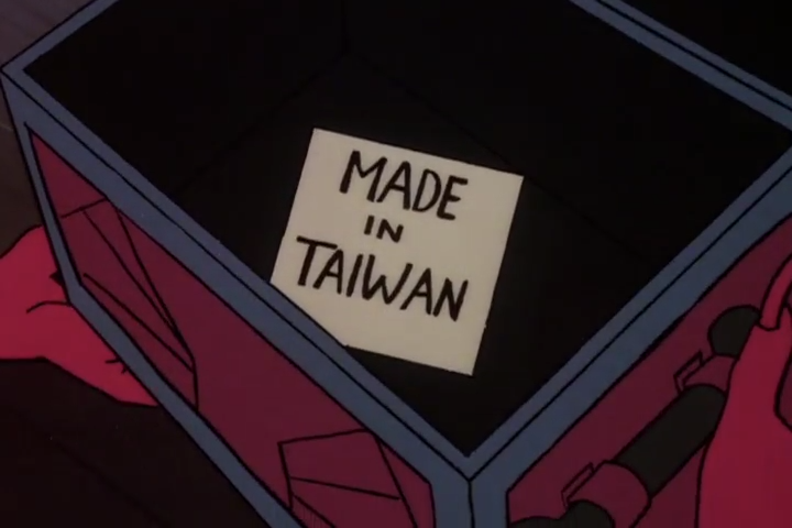 """Taiwanese TV and movies actually feature a trope where a poorly-made product will be flipped over to reveal a """"MADE IN THE USA"""" sticker on the bottom."""