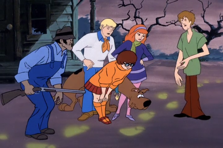 Everyone else was scared, but Velma? She thought they were just the cutest, most adorable glowing footprints she'd ever seen.