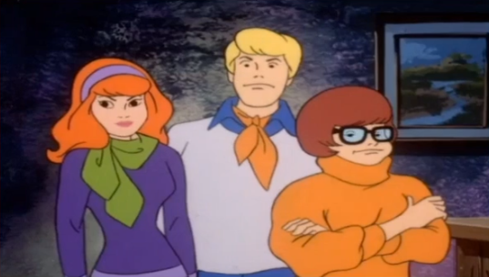 Here we have yet another scene which was created by tracing one of the animator's awkward family photos.