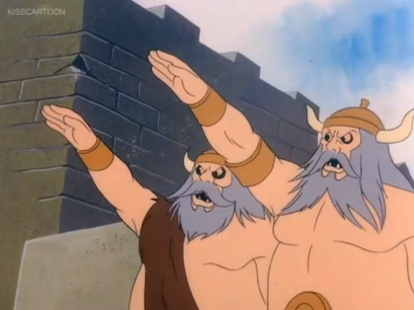 """""""Hey vikings, if your hatred for Nazi gestures were to be personified, how tall would it be?"""""""