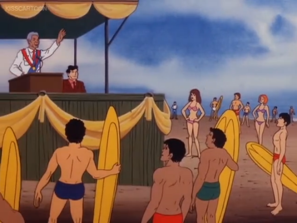 """""""Gather round, beachlings! Your prince wishes to bid you good sand on this fine cowabunga!"""""""